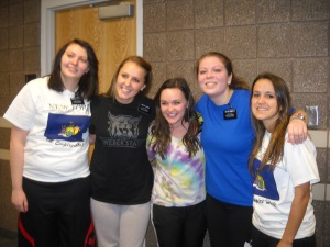 Emily and the Sisters in her MTC District on P-day